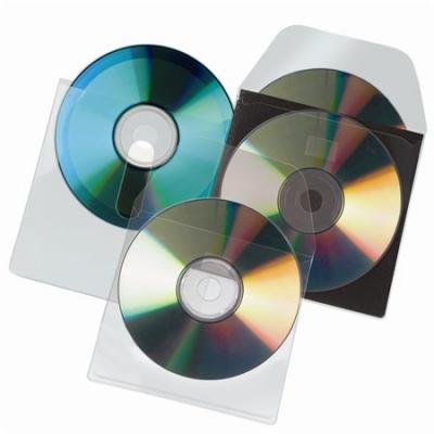 CD tart� zseb, f�llel ell�tott, �ntapad�, 127x127 mm, 3L