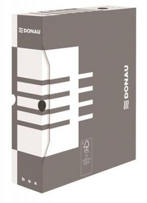 Archiv�l� doboz, A4, 80 mm, karton, DONAU, sz�rke