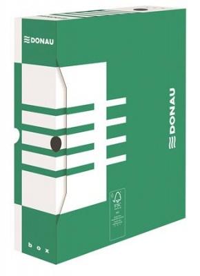 Archiv�l� doboz, A4, 80 mm, karton, DONAU, z�ld