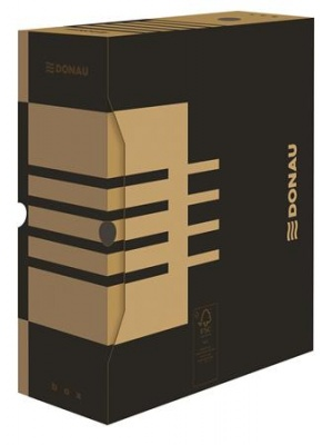 Archiv�l� doboz, A4, 120 mm, karton, DONAU, nat�r