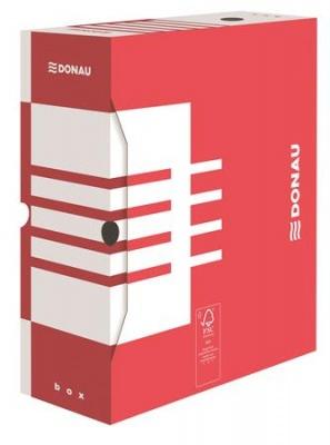 Archiv�l� doboz, A4, 120 mm, karton, DONAU, piros