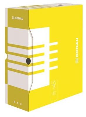 Archiv�l� doboz, A4, 120 mm, karton, DONAU, s�rga