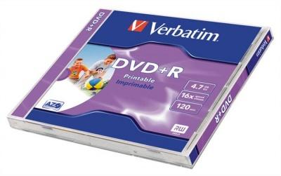 DVD-R lemez, nyomtathat�, matt, ID, 4,7GB, 16x, norm�l tok, VERBATIM