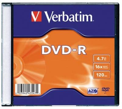 DVD-R lemez, AZO, 4,7GB, 16x, v�kony tok, VERBATIM