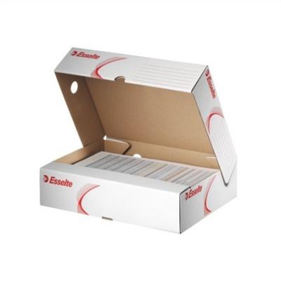 Archiv�l� doboz, A4, 80 mm, karton, felfel� ny�l�, ESSELTE