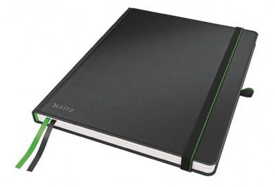 Jegyzetf�zet, exkluz�v, iPad m�ret, vonalas, 80 lap, kem�nyfedeles, LEITZ