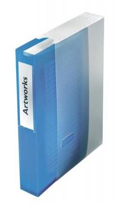CD/DVD-mappa, m�anyag, tokkal, 48 db-os, ESSELTE, �ttetsz� k�k