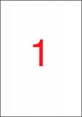 Etikett, 210x297 mm, fel�lc�mk�z�shez (t�k�letes fed�s), 20 etikett/csomag