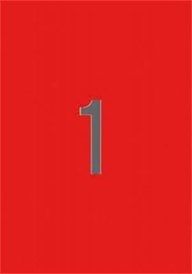 Etikett, 210x297 mm, sz�nes, APLI, piros, 20 etikett/csomag