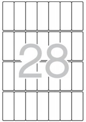 Etikett, 20x50 mm, kerek�tett sark�, A5 hordoz�n, APLI, 420 etikett/csomag