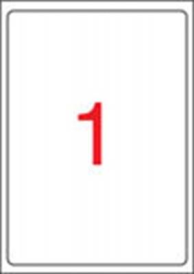Etikett, univerz�lis, 199,6x289,1 mm, kerek�tett sark�, APLI, 100 etikett/csomag