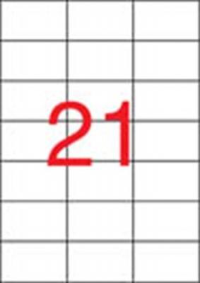 Etikett, univerz�lis, 70x42,4 mm, APLI, 2100 etikett/csomag