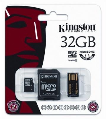 Mem�riak�rtya, Micro SDHC, 32GB, Class 10, adapterrel, KINGSTON