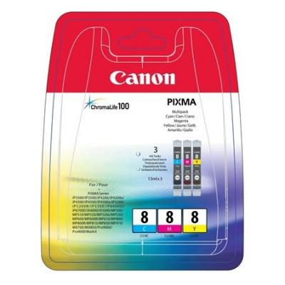 CLI-8KIT Tintapatron multipack Pixma iP3500, 4200 nyomtat�khoz, CANON c+m+y, 3*13ml