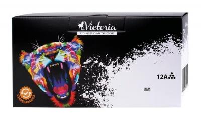 12A L�zertoner LaserJet 1010, 1012, 1015 nyomtat�khoz, VICTORIA fekete, 4k