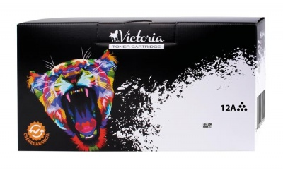 12A L�zertoner LaserJet 1010, 1012, 1015 nyomtat�khoz, VICTORIA fekete, 3K