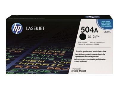 CE250A L�zertoner ColorLaserJet CM3530, CP3525 nyomtat�khoz, HP 504A fekete, 5k