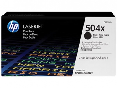 CE250XD L�zertoner ColorLaserJet CM3530, CP3525 nyomtat�khoz, HP 504X fekete, 10,5k