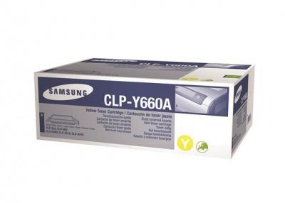 CLP-Y660A L�zertoner CLP 610, 660 nyomtat�khoz, SAMSUNG s�rga, 2k
