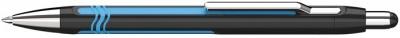 Goly�stoll, 0,7mm, nyom�gombos, fekete-k�k sz�n� tolltest, SCHNEIDER,